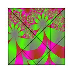 Green And Pink Fractal Acrylic Tangram Puzzle (6  x 6 )