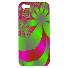Green And Pink Fractal Apple Iphone 5 Hardshell Case