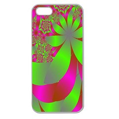 Green And Pink Fractal Apple Seamless iPhone 5 Case (Clear)