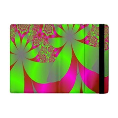 Green And Pink Fractal Apple iPad Mini Flip Case