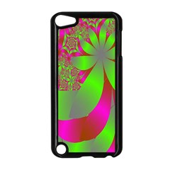 Green And Pink Fractal Apple iPod Touch 5 Case (Black)
