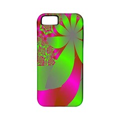 Green And Pink Fractal Apple iPhone 5 Classic Hardshell Case (PC+Silicone)