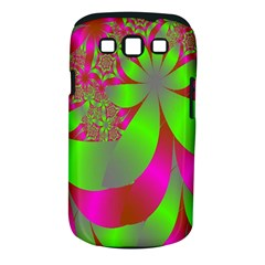 Green And Pink Fractal Samsung Galaxy S III Classic Hardshell Case (PC+Silicone)