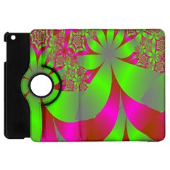 Green And Pink Fractal Apple iPad Mini Flip 360 Case
