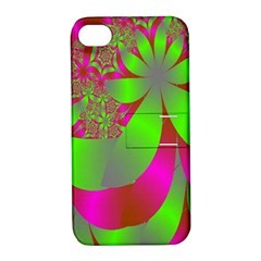 Green And Pink Fractal Apple iPhone 4/4S Hardshell Case with Stand
