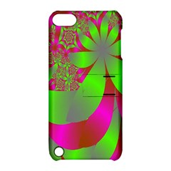 Green And Pink Fractal Apple iPod Touch 5 Hardshell Case with Stand