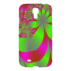 Green And Pink Fractal Samsung Galaxy S4 I9500/i9505 Hardshell Case