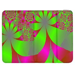 Green And Pink Fractal Samsung Galaxy Tab 7  P1000 Flip Case
