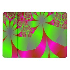 Green And Pink Fractal Samsung Galaxy Tab 10.1  P7500 Flip Case