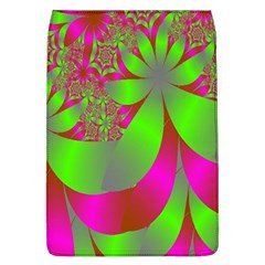 Green And Pink Fractal Flap Covers (L)