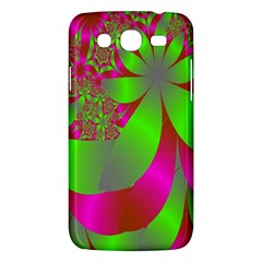 Green And Pink Fractal Samsung Galaxy Mega 5 8 I9152 Hardshell Case