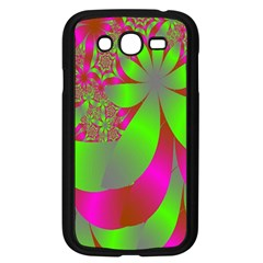 Green And Pink Fractal Samsung Galaxy Grand DUOS I9082 Case (Black)