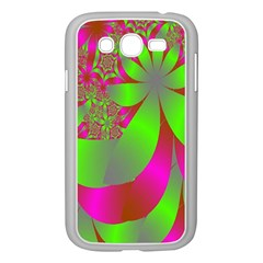 Green And Pink Fractal Samsung Galaxy Grand DUOS I9082 Case (White)
