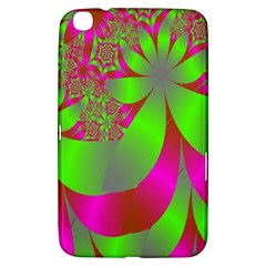 Green And Pink Fractal Samsung Galaxy Tab 3 (8 ) T3100 Hardshell Case