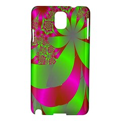 Green And Pink Fractal Samsung Galaxy Note 3 N9005 Hardshell Case