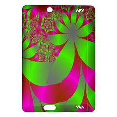 Green And Pink Fractal Amazon Kindle Fire Hd (2013) Hardshell Case