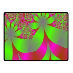 Green And Pink Fractal Double Sided Fleece Blanket (Small)