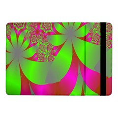 Green And Pink Fractal Samsung Galaxy Tab Pro 10.1  Flip Case
