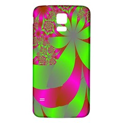Green And Pink Fractal Samsung Galaxy S5 Back Case (white)