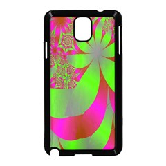 Green And Pink Fractal Samsung Galaxy Note 3 Neo Hardshell Case (black)