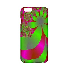 Green And Pink Fractal Apple iPhone 6/6S Hardshell Case