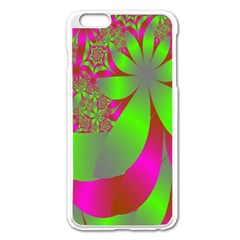 Green And Pink Fractal Apple Iphone 6 Plus/6s Plus Enamel White Case