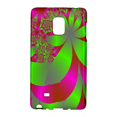 Green And Pink Fractal Galaxy Note Edge