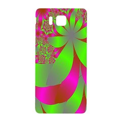 Green And Pink Fractal Samsung Galaxy Alpha Hardshell Back Case