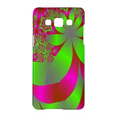 Green And Pink Fractal Samsung Galaxy A5 Hardshell Case