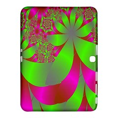 Green And Pink Fractal Samsung Galaxy Tab 4 (10.1 ) Hardshell Case