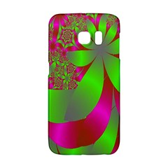 Green And Pink Fractal Galaxy S6 Edge
