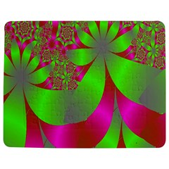 Green And Pink Fractal Jigsaw Puzzle Photo Stand (rectangular)