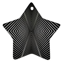 Abstract Of Shutter Lines Ornament (star)
