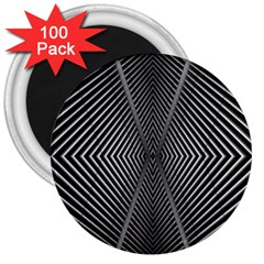 Abstract Of Shutter Lines 3  Magnets (100 Pack)