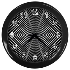 Abstract Of Shutter Lines Wall Clocks (Black)