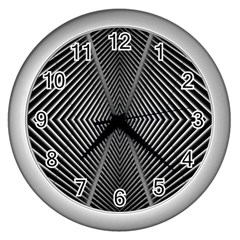 Abstract Of Shutter Lines Wall Clocks (Silver)