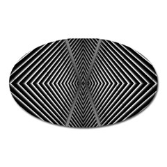 Abstract Of Shutter Lines Oval Magnet