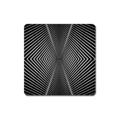 Abstract Of Shutter Lines Square Magnet