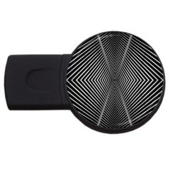 Abstract Of Shutter Lines Usb Flash Drive Round (2 Gb)