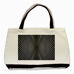 Abstract Of Shutter Lines Basic Tote Bag
