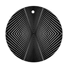 Abstract Of Shutter Lines Round Ornament (Two Sides)