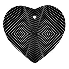 Abstract Of Shutter Lines Heart Ornament (two Sides)
