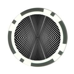 Abstract Of Shutter Lines Poker Chip Card Guard