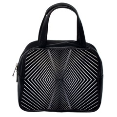 Abstract Of Shutter Lines Classic Handbags (one Side)