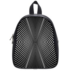 Abstract Of Shutter Lines School Bags (small)
