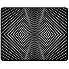 Abstract Of Shutter Lines Fleece Blanket (medium)