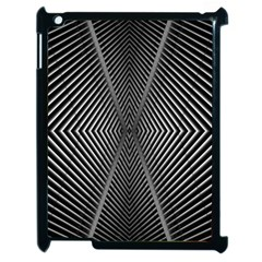 Abstract Of Shutter Lines Apple iPad 2 Case (Black)