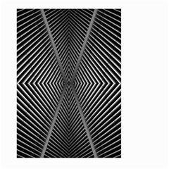 Abstract Of Shutter Lines Large Garden Flag (Two Sides)