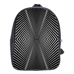 Abstract Of Shutter Lines School Bags (XL)