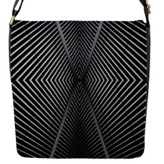 Abstract Of Shutter Lines Flap Messenger Bag (S)
